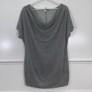 DEB women's top size 3X grey metallic